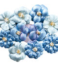 Prima Marketing Santorini 10 pk Pearlescent Paper Flowers-Athinios