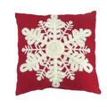 Handmade Holiday Christmas 18\u0027\u0027x18\u0027\u0027 Pillow-Snowflake