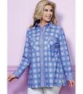 Butterick Pattern B6465 Misses\u0027/Women\u0027s Shirt-Size XXL-1X-2X-3X-4X-5X-6X