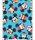 Disney Mickey & Minnie Fleece Fabric 59\u0022-Emoji Faces