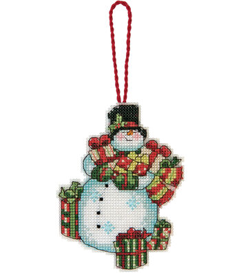 Snowman Ornament Counted Cross Stitch Kit