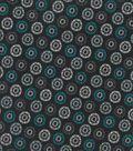 Quilter\u0027s Showcase Cotton Fabric -Gray & Teal Burst