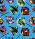 Marvel Avengers Print Fabric by Springs Creative-Retro Comics