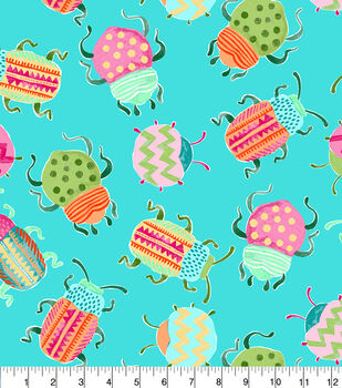 Snuggle Flannel Fabric-Pattern Trap Beetle
