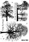 Crafty Individuals Unmounted Rubber Stamp 4.75\u0022X7\u0022 Pkg-Winter Trees