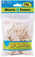Woodsies Shapes 130/Pkg-Hearts