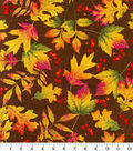 Harvest Cotton Fabric -Leaves & Berries