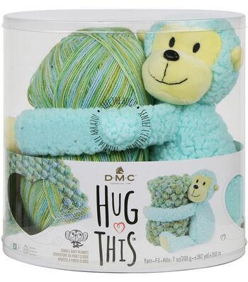 DMC Hug This! Monkey Bubble Baby Blanket Yarn Kit