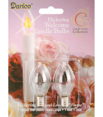 Darice 2 Pk Candle Lamp Collection Flickering Welcome Bulbs
