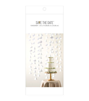 Save the Date 8'x7' Fabric Backdrop