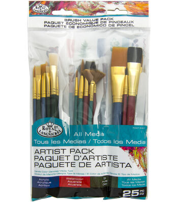 Royal Langnickel 25pc Value Brush Set
