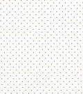 Quilter\u0027s Showcase Cotton Fabric -Purple Swiss Dots on White