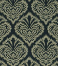 Robert Allen @ Home Upholstery Fabric 54\u0022-Ikat Damask Charcoal