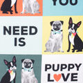 No Sew Fleece Throw 48\u0022-All You Need is Puppy Love