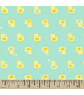 Snuggle Flannel Fabric -Ducky Mint