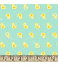 Snuggle Flannel Fabric 42\u0022-Ducky Mint
