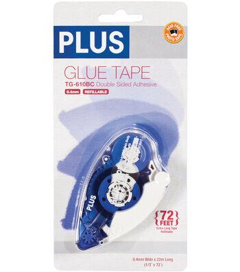 """Plus High Capacity Glue Tape Dispenser-.3""""X72'"""