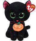 Ty Beanie Boos Regular Potion Black Cat with Pumpkin