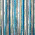Oudoor Canvas Fabric-Wavy Stamped Blue Stripe