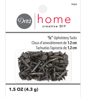 "Dritz 0.5"" Number 6 Upholstery Steel Tacks 2oz"