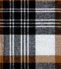 Flannel Shirting Fabric 41\u0022-Black Tan White