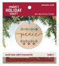 Wood Cross Stitch Ornament Kit-Peace