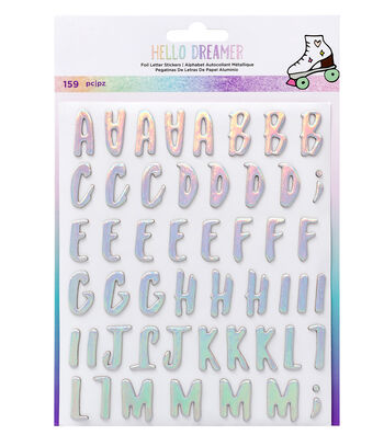 American Crafts Hello Dreamer 159 pk Foil Letter Stickers-Alpha
