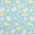 Nursery Flannel Fabric-Mint Good Night Moon