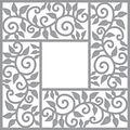 Spellbinders Shapeabilities Dies By Marisa Job-Leaf Border Frame 4\u0022X4\u0022