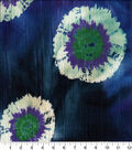 Cotton Batik Apparel Fabric 43\u0022-Blue Tie Dye Circle Textured
