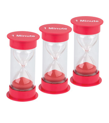Teacher Created Resources 1 Minute Sand Timer, Medium, Pack of 3