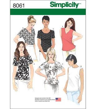 Simplicity Misses' Tops-16-18-20-22-24