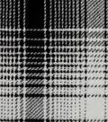 Fleece Fabric-Gray & Black Mica Plaid