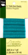 Dritz 5/8\u0022  Fold Over Elastic Tile Blue 1Yd