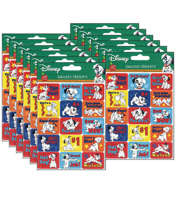 101 Dalmatians Motivational Success Stickers 12 Packs