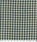 Homespuns Cotton Fabric 44\u0022-Navy Check