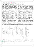 Mccall Pattern V8912 8-10-12-14-Vogue Pattern