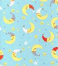 Nursery Flannel Fabric-Happy Moon & Stars