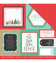 Kaisercraft Holly Jolly Double-Sided Cardstock-Chipper, , hi-res