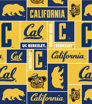 University of California Berkeley Golden Bears Fleece Fabric -Block, , hi-res
