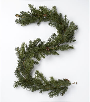Blooming Holiday Christmas 72'' Pine Needle & Pinecones Garland-Green