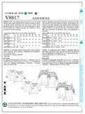 Vogue Patterns Misses Top-V8817