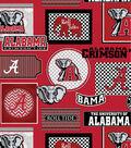 University of Alabama Crimson Tide Cotton Fabric 44\u0022-Packed Patches