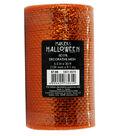 Maker\u0027s Halloween Metallic Decorative Mesh Ribbon 5.5\u0027\u0027x30\u0027-Orange
