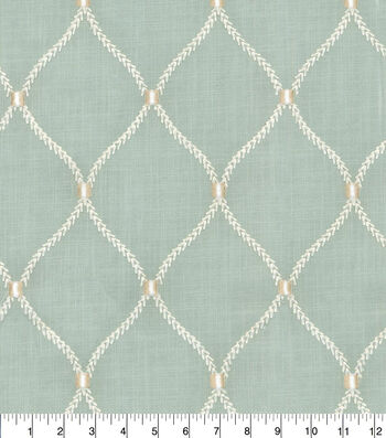 "Home Decor 8""x8"" Fabric Swatch-Deane Emb Shore"