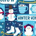 Christmas Fleece No Sew Throw-Winter Patchwork