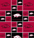 University of Arkansas Razorbacks Cotton Fabric 43\u0022-Block