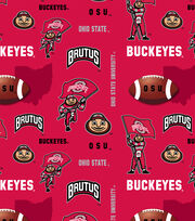 Ohio State University Buckeyes Fleece Fabric 60''-Red, , hi-res