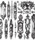 Iron Orchid Designs Decor Clear Stamps 12\u0022X12\u0022-Hardware II