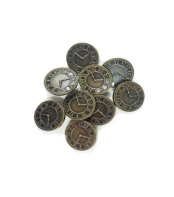"Steampunk Clock Buttons 1 1/8""-Antique Gold"